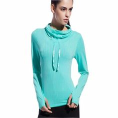 Women Sport Shirt Dry Quick Hooded Yoga Shirt Ropa Deportiva Women's Shirts Long Sleeve Sports Tops Fitness Women's Blouse