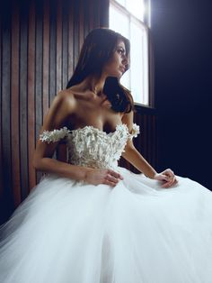 """The """"Monarch"""" gown by Lauren Elaine Bridal. 