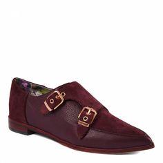 3262ea3eb0d Maroon Leather Naoi Monk Strap Shoes - Ted Baker Footwear Women