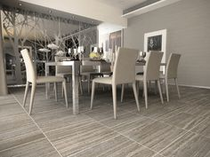 Thassos Travertine 16 x 24 - Silver Floor Tile Floor Design, House Design, Estilo Interior, Fixer Upper House, Wood Look Tile, Best Flooring, House Tiles, Beautiful Kitchens, Home Living Room