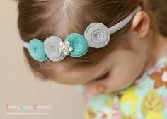Cool Blue Hues Wool Felt Headband Choose by sleepingbcreations, $12.00