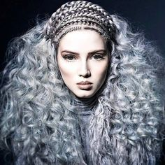 This is the of the weekend being half over! Check out the Hair Upload of the Day by Jennie Smullen on Crazy Hair, Big Hair, Braids For Short Hair, Short Hair Styles, Pelo Editorial, Braids With Shaved Sides, How To Style Bangs, Hair Shows, Creative Hairstyles