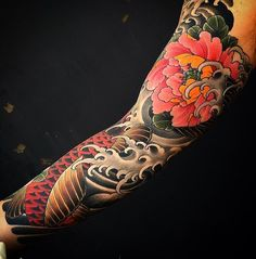 "6,783 Likes, 7 Comments - Japanese Ink (@japanese.ink) on Instagram: ""Japanese tattoo sleeve by @mattbeckerich. #japaneseink #japanesetattoo #irezumi #tebori…"""