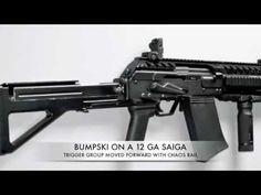 BUMPSKI 12 GA Saiga automatic firing stock.  Holy crap!!!