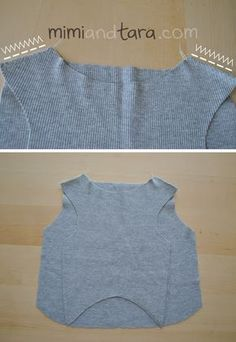 sewing pattern for dog sweater-made from a t-shirt.