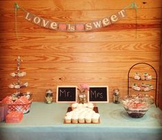 Love is Sweet Wedding Banner/ Wedding Decoration/ by BannerCheer, $23.75