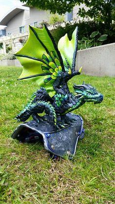 Green Shoulder Dragon Custom by AstridMakosla on DeviantArt
