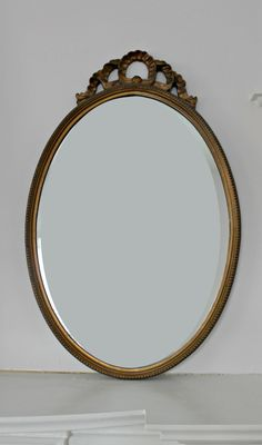 Large Vintage Ornate Oval Wall Mirror by 702ParkProject on Etsy