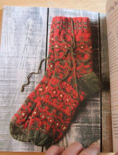 Norwegian inspired socks from The Big Book of Socks Kathleen Taylor