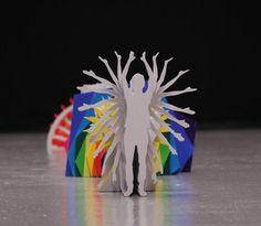 Katachi: video musical de papel hecho con stop motion