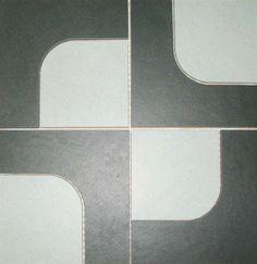 "Zone Black Mosaic 18"" x 18"""