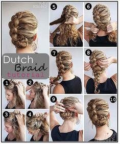 Dutch Braid Tutorial Hair Up Do