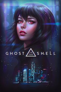 The Ghost in the Shell art collection that also examines the controversy surrounding the casting of the latest film version. Cyberpunk Girl, Arte Cyberpunk, Motoko Kusanagi, Arte Disney, Design Poster, Ghost In The Shell, Image Manga, Shell Art, Art Graphique