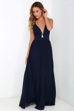 Depths of My Love Navy Blue Maxi Dress at Lulus.com!