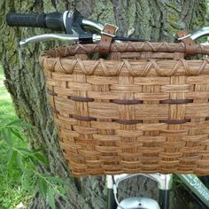 Bicycle Basket in Red Chestnut on Etsy