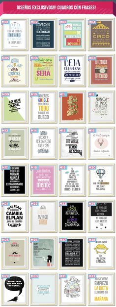 Cuadros Originales Modernos Personalizados Frases Mr Wonderful, Free Graphics, Happy Planner, Decoupage, Diy And Crafts, Projects To Try, Printables, Writing, Prints