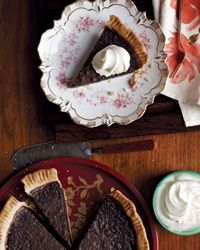 Food & Wine - Minnie's Chocolate Pie - In the oven right now!