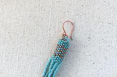 Peyote Beaded Tassel Earrings