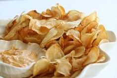 Homemade Potato Chips with Dip