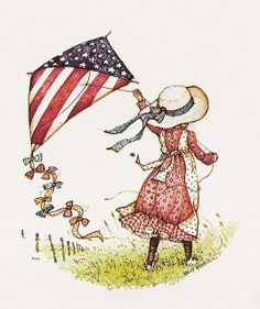 Wave of Old Glory Sarah Kay, Holly Hobbie, Toot & Puddle, Mary May, Go Fly A Kite, Kite Flying, Old Glory, Clipart, Independence Day