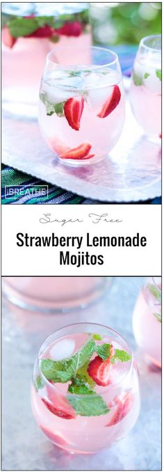These easy and refreshing sugar free strawberry lemonade mojitos have been my go to keto cocktail all summer long! These easy and refreshing sugar free strawberry lemonade mojitos have been my go to keto cocktail all summer long! Low Carb Cocktails, Beste Cocktails, Cocktail Drinks, Fun Drinks, Yummy Drinks, Healthy Drinks, Easy Cocktails, Popular Cocktails, Alcoholic Beverages