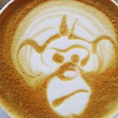 Angry monkey. #monkey #funny #latteart #latte #espresso #espressosteam #espressoart #craftcoffee #coffeeart #coffeeroaster #coffee #coffeetime #coffeelover #coffeeaddict #coffeeshop #cafe #caffeine #lattemacchiato #baristalife #coffeegram #coffeeporn #barista #latteartgram