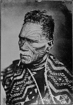 "Carte de visite portrait of Tukaroto Matutaera Potatau Te Wherowhero Tawhiao, the second Maori King, [[MORE]] "" Tāwhiao (Tūkāroto Matutaera Pōtatau Te Wherowhero Tāwhiao; Maori Tattoos, Filipino Tribal Tattoos, Eagle Tattoos, Samoan Tattoo, Samoan Tribal, Borneo Tattoos, Thai Tattoo, Philippine Eagle, Polynesian People"