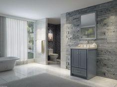 Blau Grau Badezimmer Ideen #Badezimmer