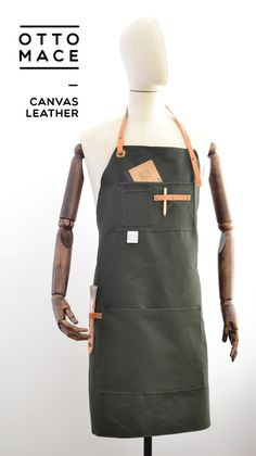 Canvas and LEATHER Apron CHEF by OTTOMACE on Etsy