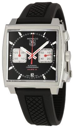 Men  Watches - TAG Heuer Mens CAW2114FT6021 Monaco Black Dial Watch >>> See this great product. (This is an Amazon affiliate link)