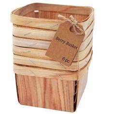 6 Piece Darice Red Paper Berry Basket