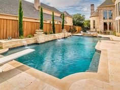Riverbend Sandler Pools offers Geometric Pool Designs Dallas, Frisco and surrounding areas that homeowners can be proud of. Backyard Pool And Spa, Backyard Pool Landscaping, Backyard Pool Designs, Swimming Pools Backyard, Swimming Pool Designs, Pools For Small Yards, Pool Water Features, Rectangular Pool, Pool Builders