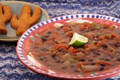 Stormy Black Bean Soup - vegan  I omit the corn and add lots of spinach Also instead of the chipotle chiles in adobo sauce I usually just add some chipotle chili powder and adobo powder.