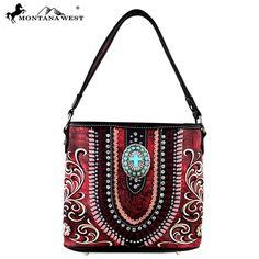 Montana West Spiritual Collection Floral Embroidery Tote – Handbag-Addict.com