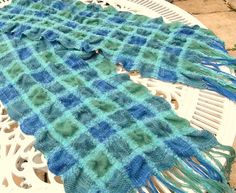 Collapse Weave scarf handwoven by Waschbear - Frances Green, via Flickr