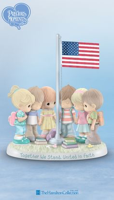 Celebrate faith, peace and the resilient American spirit with this darling school themed Precious Moments® sculpture, available only from The Hamilton Collection