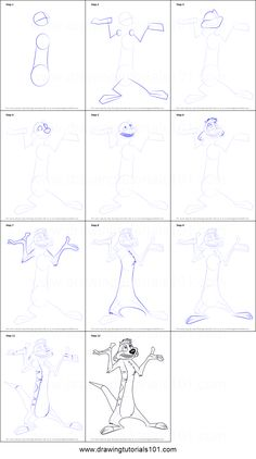How to Draw Timon from The Lion King step by step printable drawing sheet to print. Learn How to Draw Timon from The Lion King Lion King Drawings, Lion Drawing, Colorful Drawings, Easy Drawings, Disney Drawings Sketches, Cartoon Drawings, Disney Drawing Tutorial, Pinturas Disney, Drawing Sheet