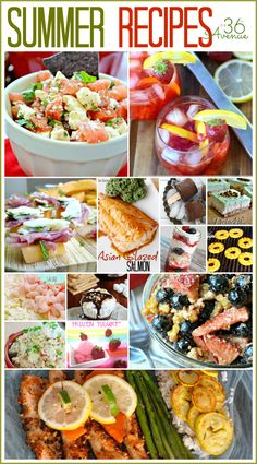 Delicious round up of Summer Recipes... I must try them!
