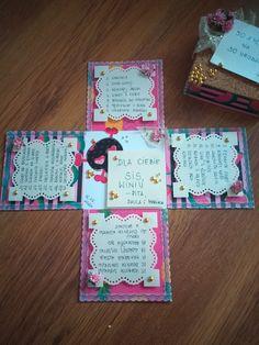 Exploding Box - życzenia na 30 urodziny Bullet Journal, Diy, Bricolage, Do It Yourself, Homemade, Diys, Crafting