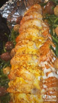 Recipe For Salmon And Shrimp, Salmon Recipes, Seafood Recipes, Bacon Pasta Recipes, Pork Recipes, Vegetarian Recipes, Dinner Recipes, Cooking Recipes, Healthy Recipes