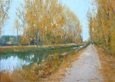 El Canal de Castilla, oleo sobre lienzo. Más detalles escribir a : ruben@rubendeluis.com