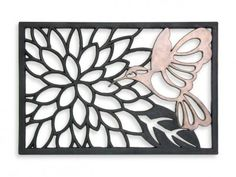 hummingbird vulcanized rubber doormat @ bed bath & beyone