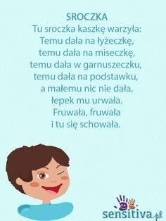 Trendy w kategoriach edukacja w tym tygodniu - Poczta Early Education, Kids Education, Games For Kids, Activities For Kids, Polish Words, Kindergarten Songs, Polish Language, School Songs, Sensory Integration