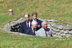 Lest we forget:Charles and his sons are given a tour of some of the conflict's trenches t...