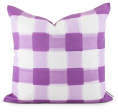 Lilac Buffalo Check Pillow