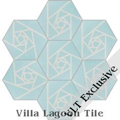 """""""Origami Blue"""" Hex Cement Tile, from Villa Lagoon Tile."""