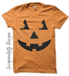 Carved Pumpkin Iron on Transfer - Iron on Jack O'Lantern Shirt / Kids Halloween Tshirt / Boys Fall Shirt / DIY Baby Pumpkin Outfit by ScrapendipityDesigns Diy Halloween Shirts, Halloween Outfits, Fall Halloween, Happy Halloween, Baby Pumpkin Outfit, Baby In Pumpkin, Fall Shirts, Kids Shirts, Tela