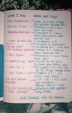 """God's responses (Bible verses) to """"what I say"""" God Quotes Hard Times, Quotes About God, Bible Verses Quotes, Bible Scriptures, Faith Quotes, Bible Quotes For Teens, Scriptures About Love, Bible Verses For Girls, Bible Verse Tattoos"""