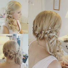 Plaits and curls bridal hair look. Norwich. Norfolk hairdresser