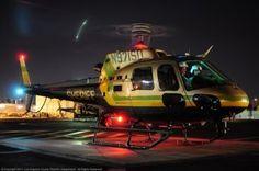 LASD Aero landing at night. (Photo Credit: Skip Robinson)